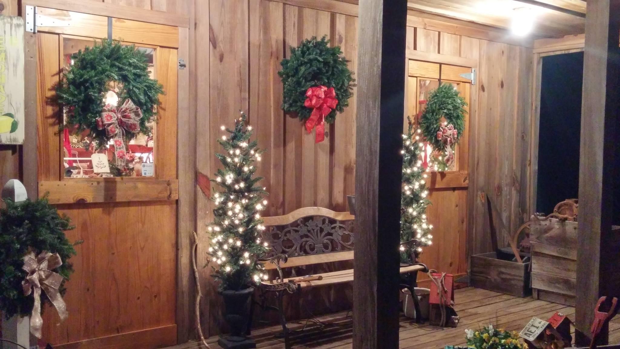 old barn wreaths